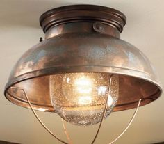 Unique Ceiling Lodge Rustic Country Antique Bronze Brass Copper Lighting Light Fixture from Vick's Great Deals. Copper Lighting, Rustic Lighting, Home Lighting, Cabin Lighting, Farmhouse Lighting, Industrial Lighting, Bedroom Lighting, Copper Ceiling, Porch Lighting