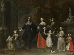 A Family Group by Gonzales Coques - circa 1664