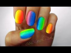 ▶ Rainbow Ombre using only 3 colors?! - YouTube