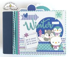 Doodlebug Design Inc Blog: Polar Pals Collection: Winter Mini Album by Traci Penrod