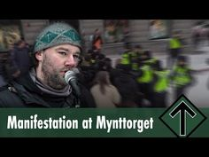 The Nordic Resistance Movement's Pär Sjögren spoke at a manifestation in Mynttorget, Stockholm about freedom of speech and censorship.