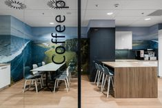 BIT CREATIVE Barnaba Grzelecki designed the offices for Oticon, a hearing aid manufacturer, located in Warsaw, Poland. Warsaw, Downlights, Scandinavian Style, Storage Spaces, Minimalism, Offices, Flooring, Interior, Table