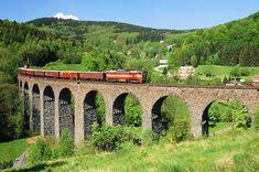 Železniční viadukt Kryštofovo Údolí-Novina Czech Republic, Prague, Trips, Architecture, Travel, Paths, Iron, Viajes, Arquitetura