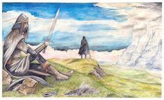 Túrin & Beleg (The Silmarillion, Chapter 21) ~ Peter Xavier Price.