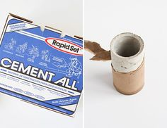 Concrete Plan: How to Make a DIY Concrete Vase with a Mailing Tube - Paper and Stitch