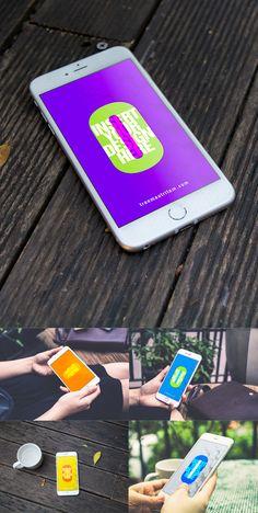 Free iPhone 6 PSD MockUps Template #freepsdfiles #freepsdmockups #freebies #presentationmockups #mockuptemplates