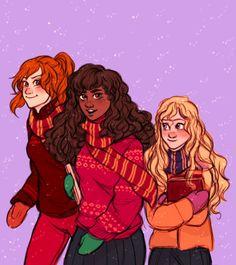 Ginny, Hermione and Luna by bevsi
