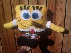 [Free Pattern] Everybody Loves Spongebob Square Pants - Knit And Crochet Daily Crochet Toys Patterns, Amigurumi Patterns, Stuffed Toys Patterns, Crochet Dolls, Crochet Ideas, Crocheted Toys, Crochet Projects, Crochet Bob, Cute Crochet
