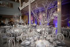 Brides: One Couple's Wintry-Themed Wedding Full of Holiday Joy
