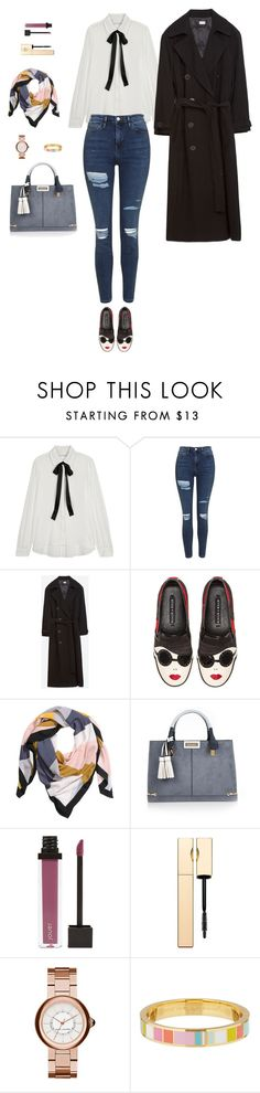 """Sans titre #6618"" by youngx ❤ liked on Polyvore featuring Alice + Olivia, Topshop, Zara, H&M, River Island, Jouer, Clarins, Marc Jacobs and Kate Spade"