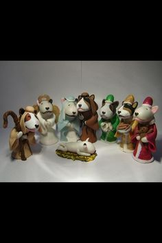 Bully in the manger polymer clay