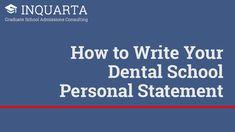 Best Grad School Images  Chemistry Class Organic Chemistry  How To Write Your Dental School Personal Statement  Inquarta Best Dental  Schools School Essay