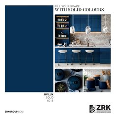 Every color has a story with ZRK's UV Lux boards that comes in a wide range of shades and variety. Retail Fixtures, Bath Cabinets, Laminated Mdf, Kitchen And Bath, Your Space, Boards, Shades, Range, Colours