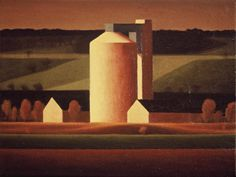 Molasses Tower (Cupar) by Renny Tait 1995 oil on canvas Oil On Canvas, Tower, Industrial, Landscapes, Paintings, Art, Art Background, Paisajes, Lathe