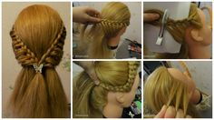 Step by step tutorial beautiful hairstyle