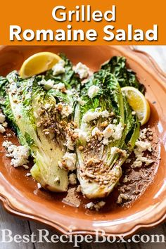 Grilled Romaine Salad Recipe for the Best Summer Salad Romaine Recipe Lettuce Recipes, Chopped Salad Recipes, Kale Salad Recipes, Summer Salad Recipes, Salad Recipes For Dinner, Chicken Salad Recipes, Southwest Salad Recipe, Grilled Romaine Salad, Best Summer Salads