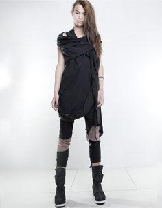 DRESS. DEMOWOMAN. DEMOBAZA / Post-apocalypse fashion /post-apocalyptic clothing / dystopian / women's fashion/ looks / style / female