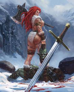 Fantasy Art Women, Beautiful Fantasy Art, Dark Fantasy Art, Fantasy Girl, Fantasy Female Warrior, Anime Warrior, Fantasy Armor, Female Character Design, Cute Anime Character