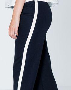 Pantalón banda lateral - Pantalones - Ropa - Mujer - PULL&BEAR México