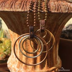Creating simple boho style jewelry is easy with a little leather and these Open Frame Hoops from Nunn Design. See the full tutorial on our blog.