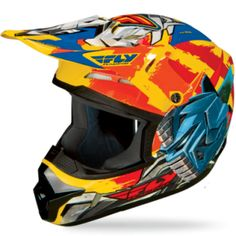 """Fly Racing Kinetic Bmx Helmets """"Fly-Bot"""" Graphic"""