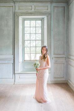 Beaded Blush Bridesmaid Dress | photography by http://kir2ben.com