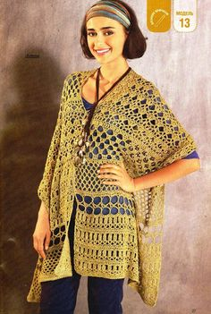 Crochet gold: poncho