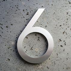 Modern House Numbers Aluminum Modern Font
