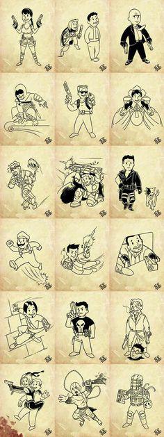 Vault Boy z Fallout paroduje ostatni postavicky z her: - Imgur