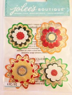 Jolee's Boutique  Christmas Flowers  NEW   by CynthiasCraftingNook