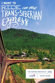 #BucketList Item No. 55   Ride on the Trans-Siberian Express Inspired by @Vivnsect  Typography by Ryan Hamrick  A ride on the Trans-Siberia...