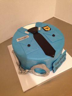 Police Officer Uniform Cake