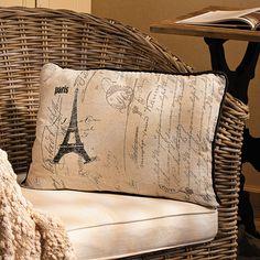 Eiffel Tower Throw Pillow - OrientalTrading.com