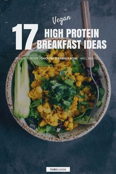 Finding breakfast recipes that are a) high in protein b) low in starchy carbs and c) filling and tasty can be challenging enough never mind if you have any type of dietary restriction. But alas here are 17 recipes that meet all of the aforementioned High Protein Vegan Breakfast, Healthy Breakfast Recipes, Vegetarian Recipes, Healthy Eating, Healthy Recipes, Delicious Recipes, High Protein Vegan Meals, Fodmap Breakfast, Healthy Cake