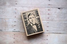 Male Portrait ABC Collage Man in a Suit Rubber Stamp/Vintage Human Rubber…