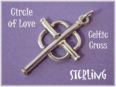 Celtic Circles of Love - Irish Cross Pendant For Necklace - Sterling Silver Handcrafted Artisan Treasure - Christian Jewelry - FREE SHIPPING by FindMeTreasures on Etsy