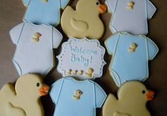 Duck-Themed Baby Shower Cookies | Cookie Connection