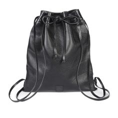 JIN Leather Drawstring Backpack by Brave Leather