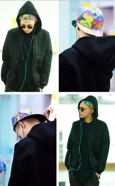 July seoul>>> newyork  GD!!! I actually have this hat. Why are you stealing my style?!