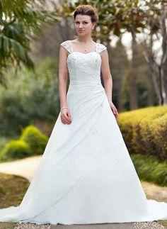 Wedding Dresses - $178.99 - A-Line/Princess Sweetheart Chapel Train Chiffon Wedding Dress With Ruffle Lace Beading (002011638) http://jjshouse.com/A-Line-Princess-Sweetheart-Chapel-Train-Chiffon-Wedding-Dress-With-Ruffle-Lace-Beading-002011638-g11638