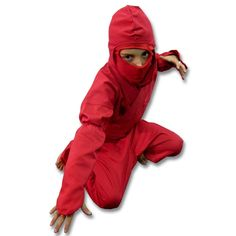 Kids Red Ninja Uniform now available at http://www.karatemart.com/
