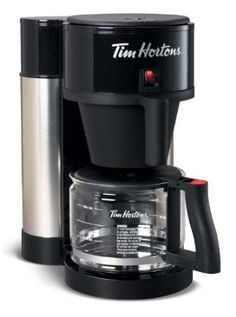 The official Tim Horton's Coffee Maker by Bunn! Tim Horton's is my favorite coffee, I MUST have this coffee maker!