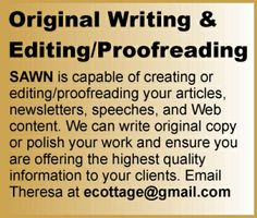 SAWN writing and editing services