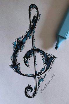 Musical note tattoo idea but I'd incorporate a seahorse somehow