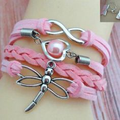 Fashion Chic Women s Faux Pearl Dragonfly Embellishment Design Friendship Bracelet .