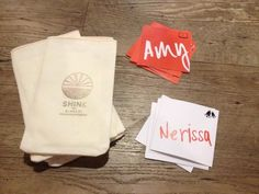 I got my DIY on for SHINE 2013. Featured custom name tags that defined mentor and mentee along bags with the handbook in them.