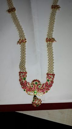 Beaded Jewelry Designs, Beaded Jewellery, Royal Jewelry, India Jewelry, Latest Jewellery, Gems Jewelry, Pearl Jewelry, Antique Jewelry, Crystal Bead Necklace