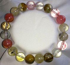 Wassermelonenturmalin Heilstein Perlen Armband 10mm
