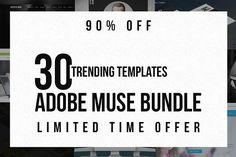 The Trending Adobe Muse Bundle by Creative Slides on @creativemarket