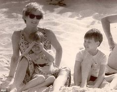 Diana with William and Harry on holiday in the Virgin Islands in 1990. Harry will inherit his half of the trust fund when he turns 30 in 2014